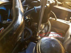 8. 2eme sonde à installer sur la pipe pour le système d'injection, à ouvrir sur la pipe