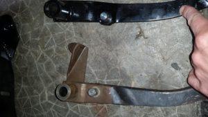 La position du pin de pushrod est décalée de 3cm et avancé sur la pédale.