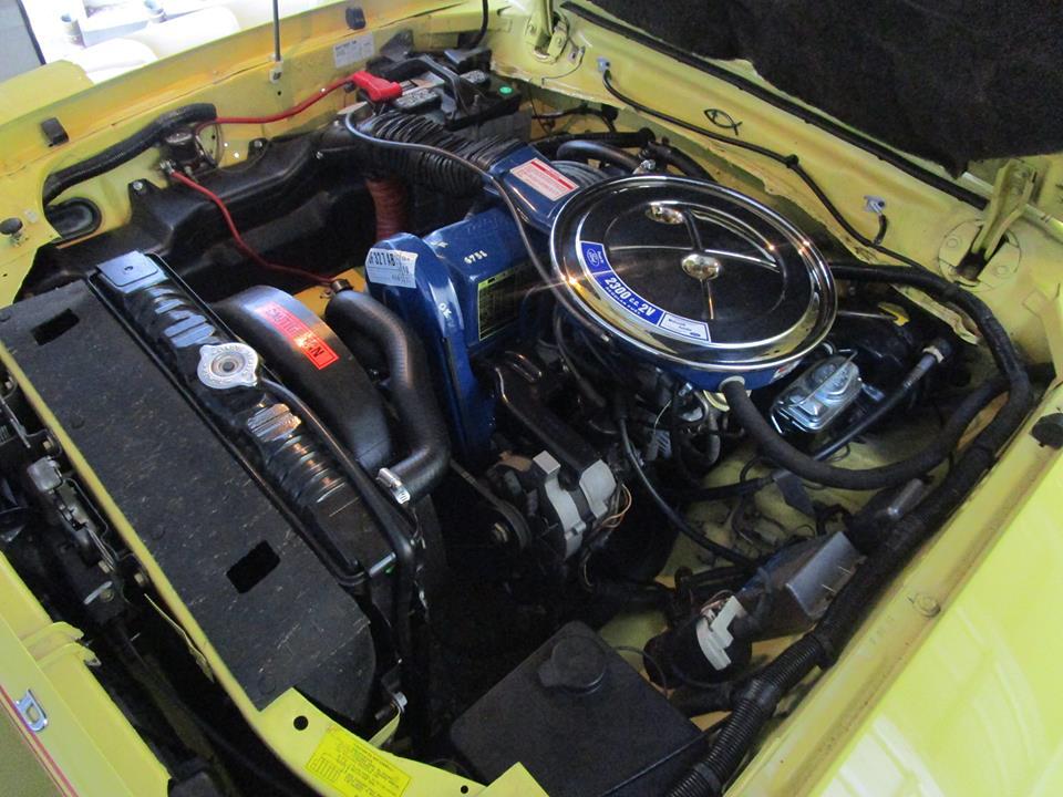 Le compartiment moteur de la Mustang II Stallion de Bobby après la restauration. Crédits photos : Robert Aldrich